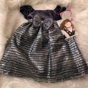 Jenny & Me infant girl 24 mo Holiday Dress NWT